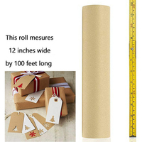 30cm*30 Meters Brown Kraft Wrapping Paper Roll Craft Gift Wrap Parcel Packing Art Origami Papier Stickers Scrapbooking