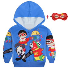 New Baby boys Ryan Toys Review hoodied Coat for Kids Hoodie Clothes Girls Shirt