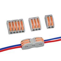 1/10 /20/100 Pcs Universal Wiring Cable Connector PCT 212 212 213 214 Push in Terminal Block Cage Spring Household Accessories|Lámpara de tubo de dientes|Luces e iluminación -