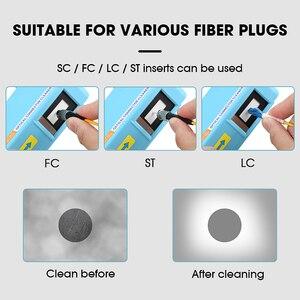 Image 4 - AUA 550 limpiador de conectores de fibra óptica/Conector de fibra Cassette de limpieza, 500 veces limpiador de Cassette caja de limpieza de fibra óptica