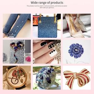 Image 4 - 1440Pcs Hotfix Glass Strass Crystal Iron On Fabric Hot Fix Rhinestones Flat Crystal AB Glitter Clothes Bag Shoes