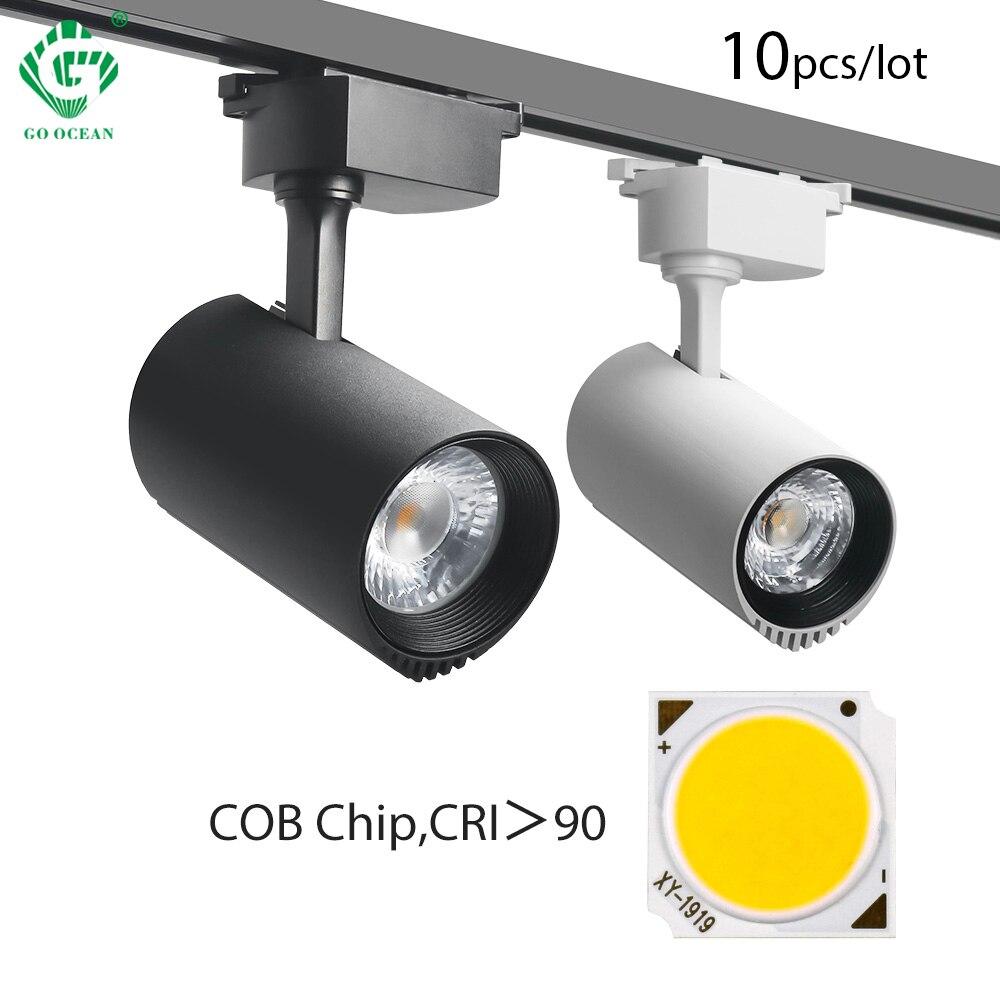 10W/20W/30W/40W LED Track Light COB Track Lights Rail Spotlight Lamp Fixtures Fruit Shop Clothes Store Indoor Lighting 10pcs/lot