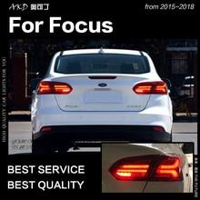 AKD Car Styling dla Ford Focus światła tylne 2015-2018 Focus Sedan tylna lampa LED LED DRL sygnał hamulca rewers auto akcesoria