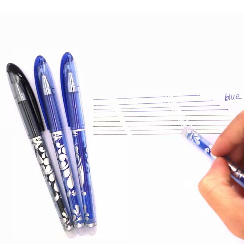 3 6pcs Set Erasable Pen 0 5mm Blue Black Ink Ballpoint Pen for School Supplies Student Writing Exam Stationery Pens