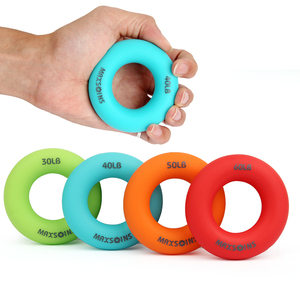 Silica Gel Portable Hand Grip Gripping Ring Carpal Expander Finger Trainer Grip Strength Rehabilitation Pow Stress Ring Ball(China)
