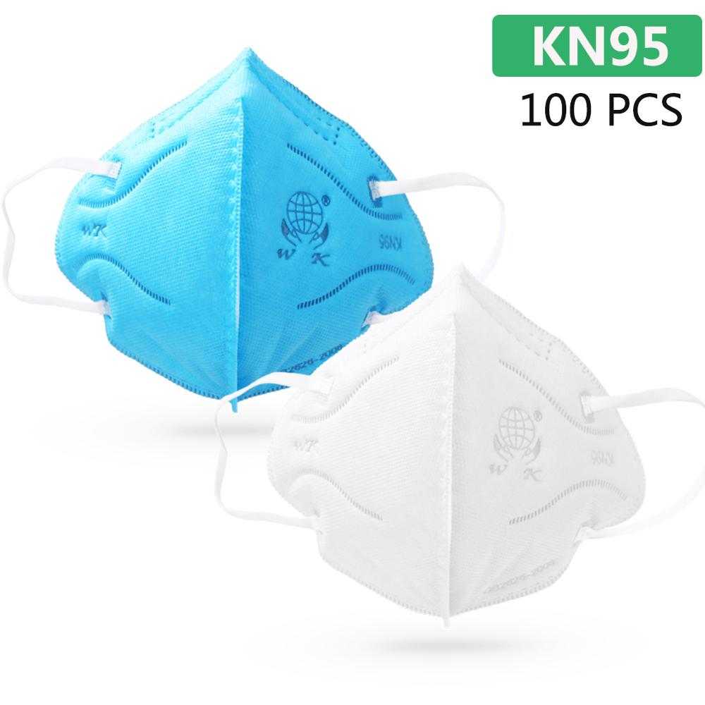 100pcs KN95 Masks Protective Fold Face Mask Anti-dust Bacterial Proof Filter Cover PPE Labor Protection Safety Respirator