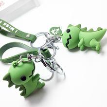 Śliczny mały zielony dinozaur breloczek kobiety dziewczyna Kawaii kotek brelok do kluczyków samochodowych moda brelok zwierząt randki prezent na rocznicę tanie tanio CN (pochodzenie) Ze stopów żelaza Breloczki Wszystko kompatybilny