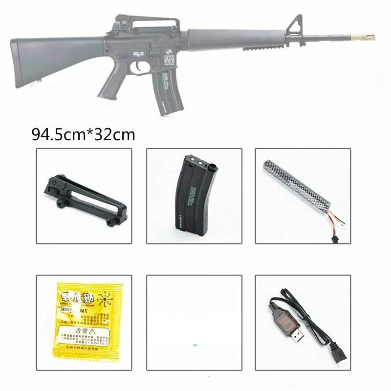 M16 Gel Blaster Water Crystal Bullets Mag-fed Gun Toy Adult Size