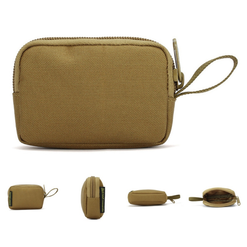 Outdoor Hunting Tactical Molle Wallet Square Purses Waterproof Card Key Holder Change Coins Pouch Earphone Sack