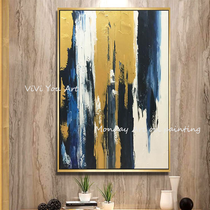 100-Hand-Painted-Abstract-Golden-Art-Oil-Painting-On-Canvas-Wall-Art-Wall-Adornment-Pictures-Painting (8)