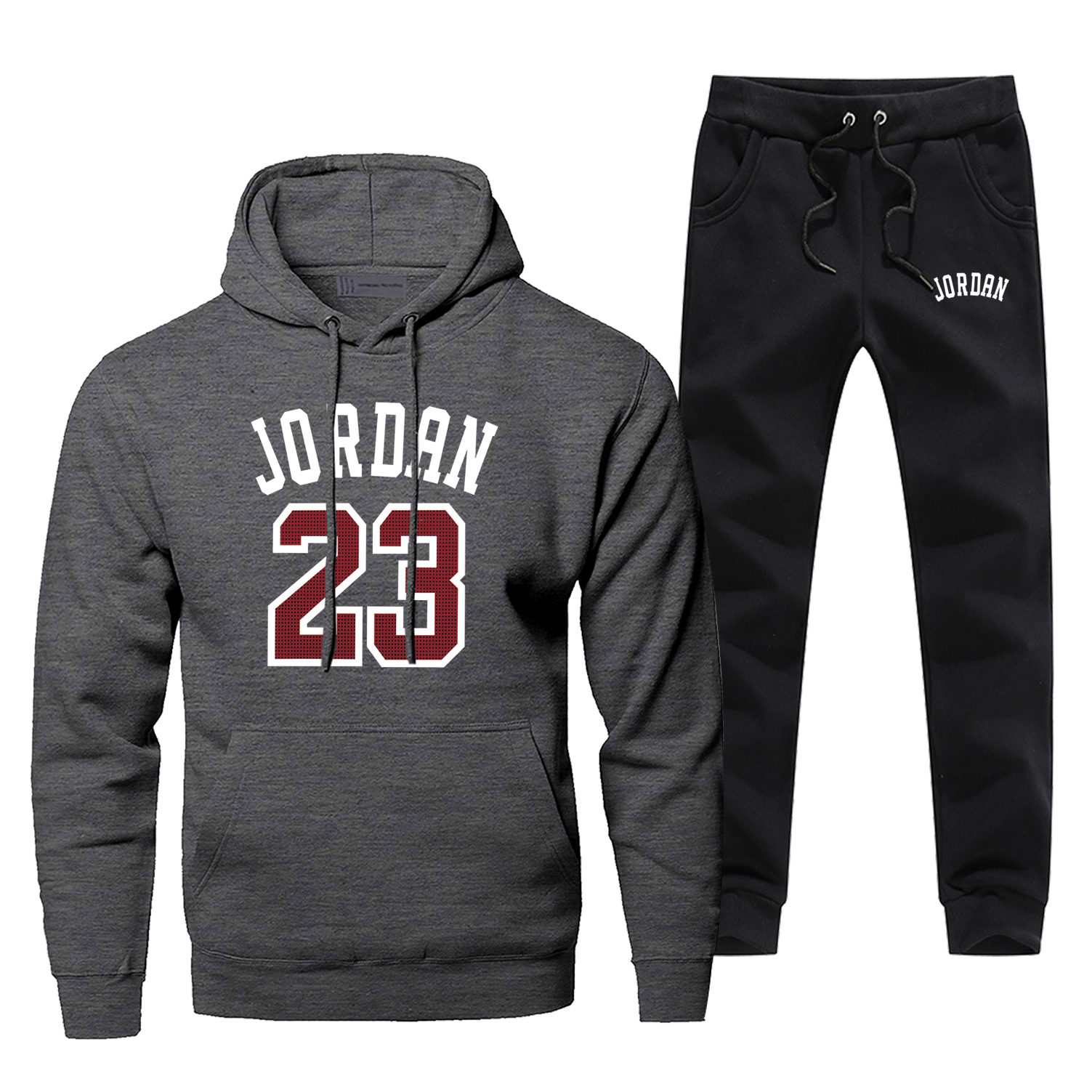 Jordan 23 Print Men's Full Suit Tracksuit Fashion Brand Man Track Suit Casual Thermo Underwear Fleece Winter Hip Hop Streetwear