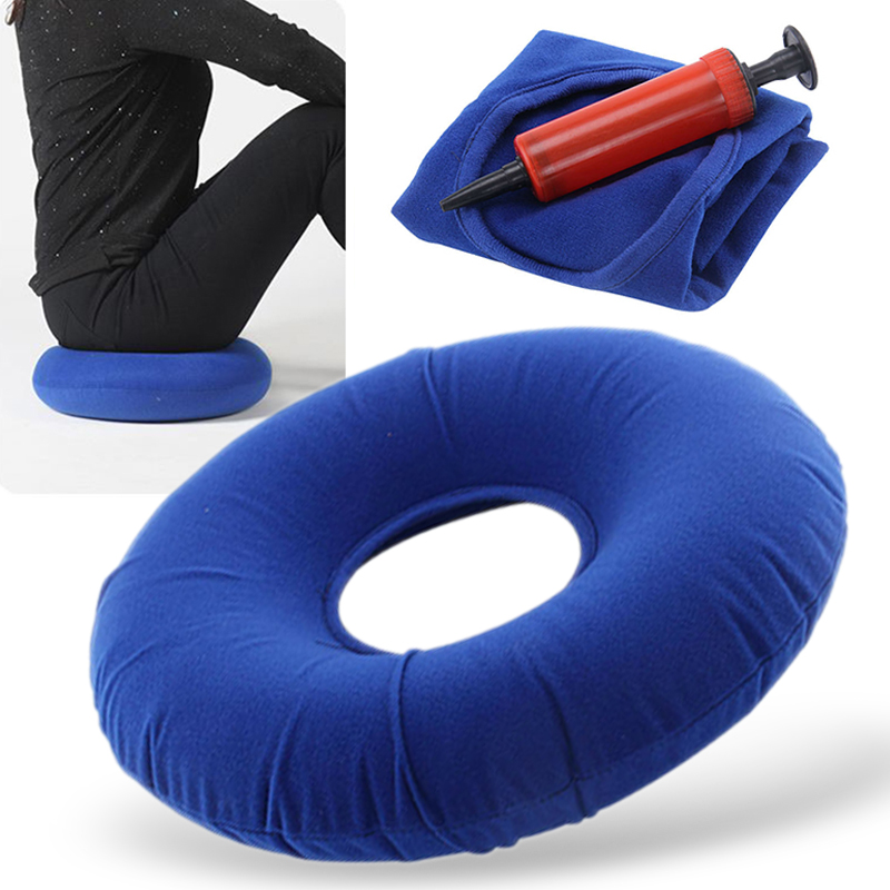 Inflatable Seat Cushion Rubber Ring Round Seat Cushion Hemorrhoid Pillows Blue For Home Supplies
