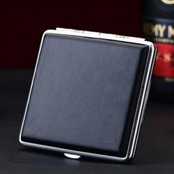 Boîte à cigarettes automatique en cuir | Fournitures de fumer personnalisées, compacte et Portable