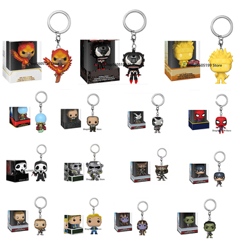 NEW! Keychain Toys VENOMIZED ARAGORN ROCKET THANOS FAWKES NARUTO POP Figure Model toys for chlidren image