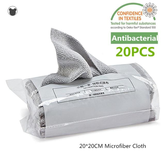 20PCS Disposable kitchen towel Reusable Microfiber cloth Antibacterial table rags dishcloth Disposable wet tissue Durable firm