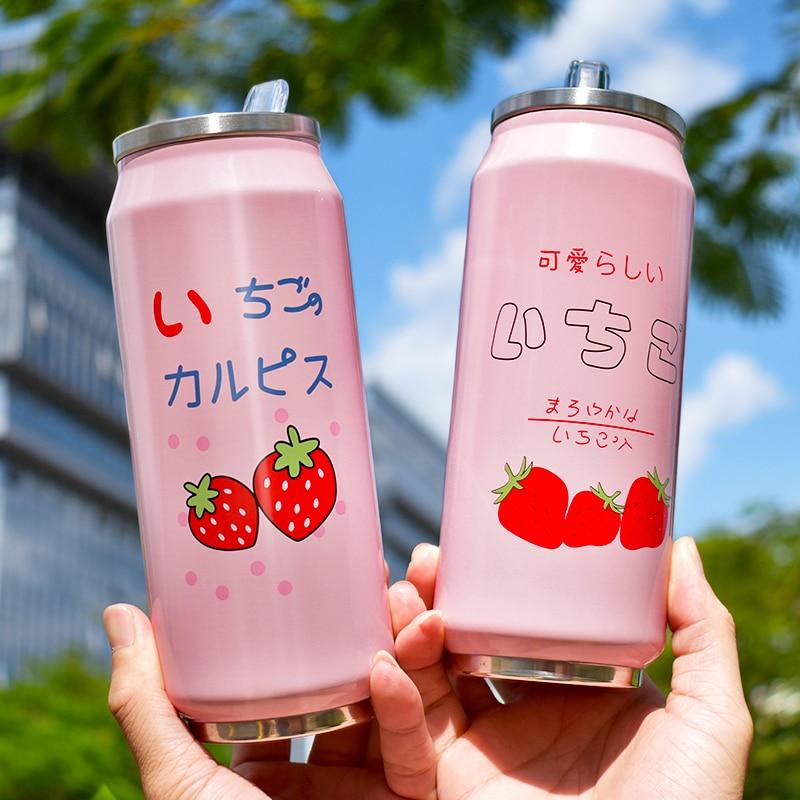 Kawaii Strawberry Vacuum Cup