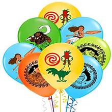 10/20 pces moana tema 12 polegada látex balões feliz aniversário decorações festa de chá de fraldas suprimentos crianças brinquedos
