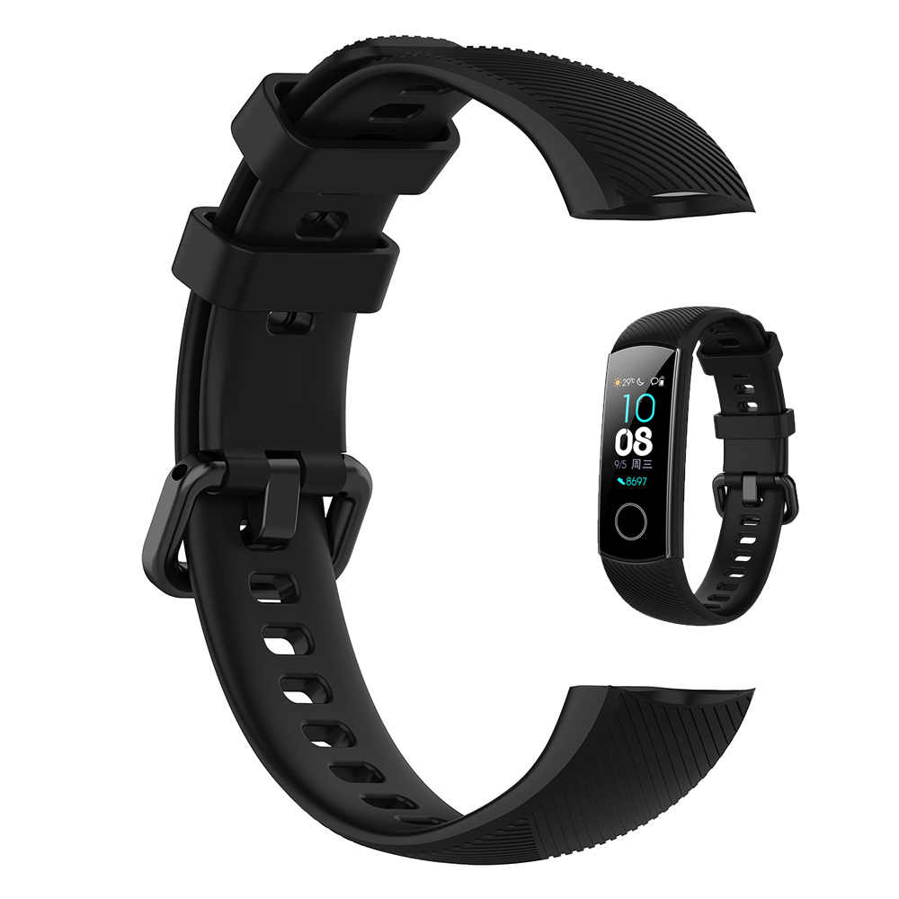 Bracelet en Silicone Souple Bracelet Pour Huawei Honor Band 5 Montre Intelligente De Sport Bracelet Bracelet Pour Honor Band 4