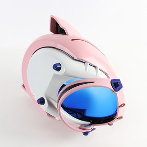 Image 5 - ¡En Stock! Casco acrílico EVA para Cosplay, casco Ayanami Rei Mari Makinami, máscara ilustre