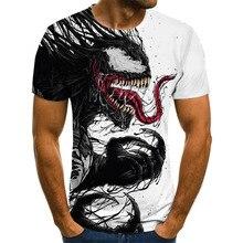 T-Shirt Men Venom Summer Top 3d-Printing Short-Sleeved Fashion Women Cartoon And New