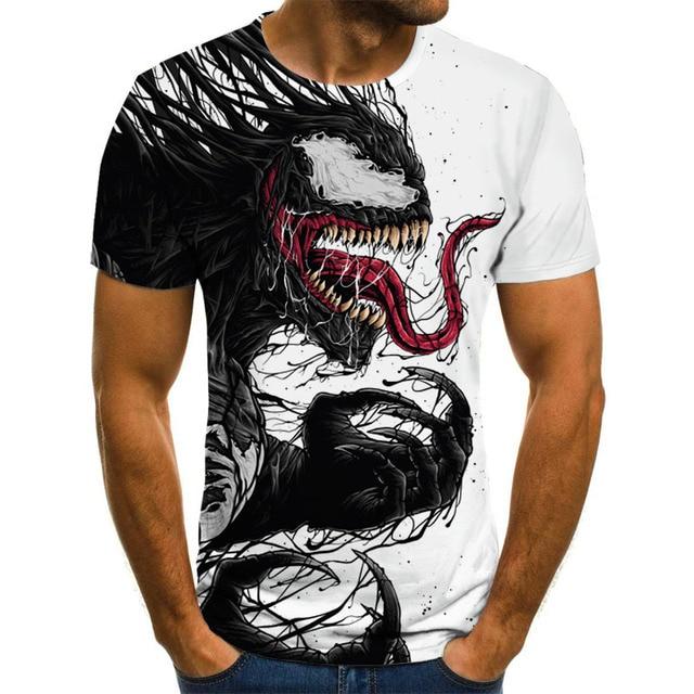 2020 new cartoon venom T-shirt men and women 3D printing fashion short-sleeved T-shirt streetwear summer top