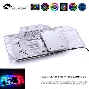Bykski GPU Water Block For ASUS TUF3-RX 5700 XT-O8G-GAMING OC Graphics Card MOBO RGB AURA SYNC 12V/5V A-AS5700XTTUF-X