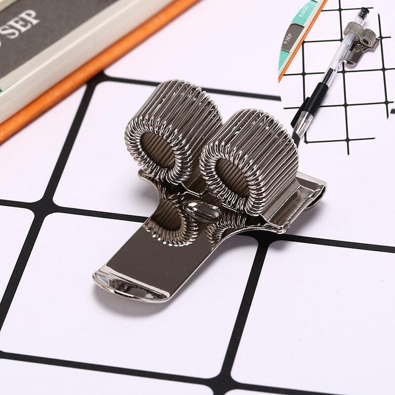 1pcs Creative 2 Hole Silver Metal Pen Holder With Pocket Clip Doctors Nurse Uniform Pen Holder