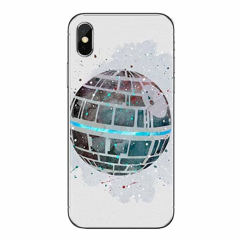 Silicone Telefoon Gevallen Cover Voor iPod Touch Apple iPhone 4 4S 5 5S SE 5C 6 6S 7 8 X XR XS Plus MAX yoda star wars en bb8 leuke bot