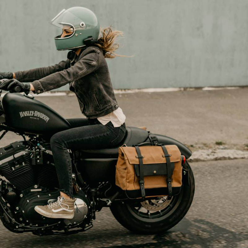 Motorcycle Side Bag Saddle Bag Locomotive Bag Side Bag Bilateral Helmet Bag Multi-Function Travel Riding Bag Motorcycle Riding