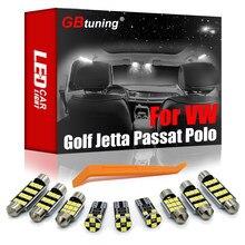 GBtuning Canbus LED para Volkswagen VW Golf 4 5 5 5 6 6 7 Jetta Bora Vento Passat B5 B6 B7 B8 CC Polo Phaeton del coche de la lámpara de la luz Interior