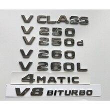 Emblèmes chromés, emblème 4MATIC, pour Mercedes Benz classe V W447 MPV V200 V220 V250 V250d V260 V260d V200L V220L V250L V260L V280L