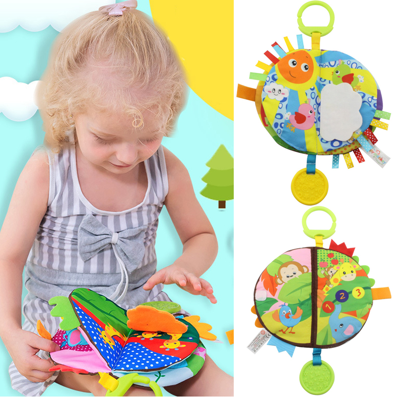 Baby Cloth Book Children Kids Educational Toys Soft Fabric Cartoon Early Learning Story Book Study Toys DS19
