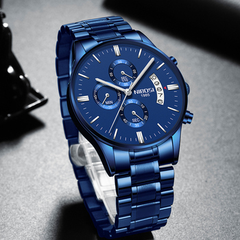 NIBOSI 2020 Mens Watches Top Brand Luxury Men Blue Watch Military Sport Wristwatch Quartz erkek saat Relogio Masculino - discount item  80% OFF Men's Watches