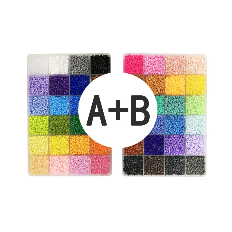 Yantjouet 2.6mm 168 couleur 7 plaque avec Kit d'outils 92400 pièces Hama perles perles de fer bricolage jouet pour enfants boîte de haute qualité - 2