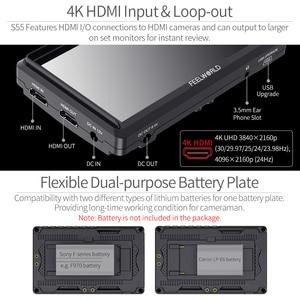 Image 5 - FEELWORLD S55 5.5 inch DSLR Camera Màn Hình 4K HDMI MÀN HÌNH LCD IPS HD 1280x720 Màn Hình Hiển Thị Trường Màn Hình 8.4V DC Đầu Ra cho Nikon Sony Canon