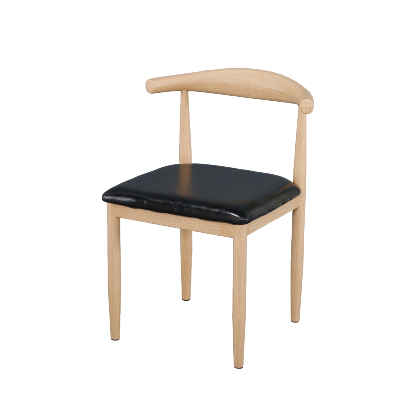 Iron Horn Chair Reinforced Thick Imitation Solid Wood Restaurant Cafe Dessert Tea Shop Table And Chairs Simple Dining Chair