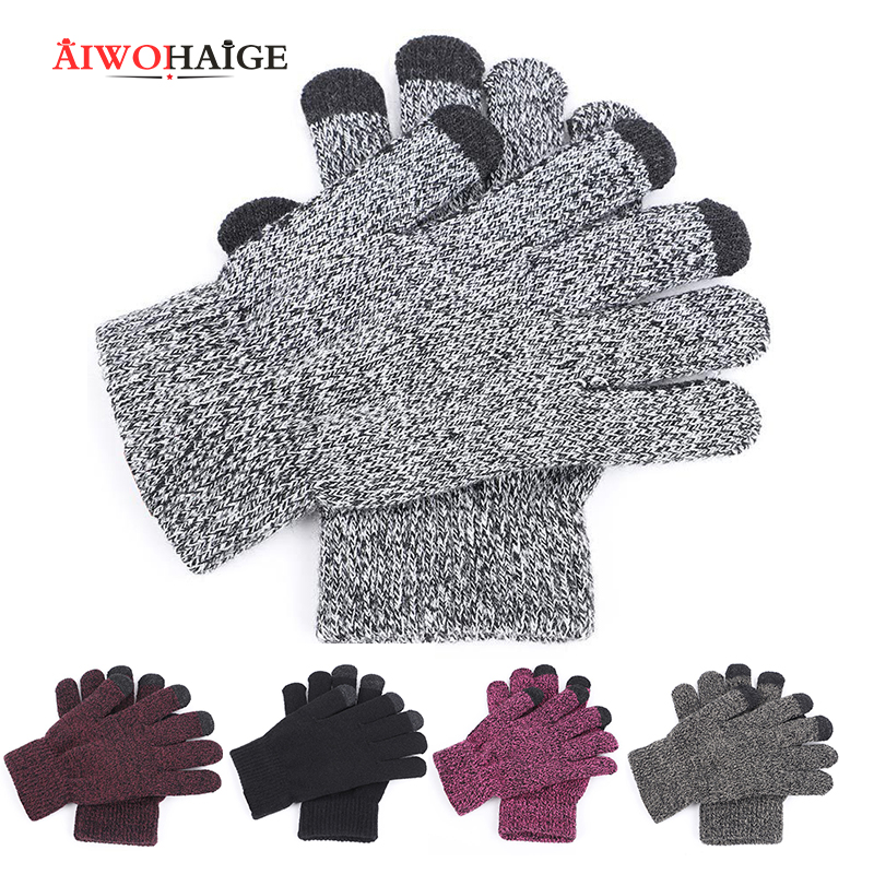 Gloves For Woman/man Winter Gloves Women Men Unisex Knit Warm Mittens Call Talking &Touch Screen Gloves Mobile Phone Pad 2019