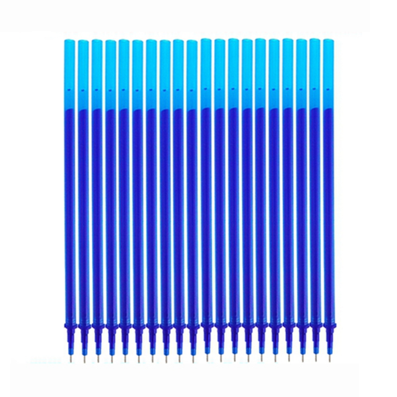 10/20Pcs/Set Erasable Pen Washable Handle 0.5mm Blue Black Ink Blue Gel Pen Erasable Refill Rod School Office Writing Stationery