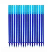 10/20Pcs/Set Erasable Pen Washable Handle 0.5mm Blue Black Ink Gel Refill Rod School Office Writing Stationery