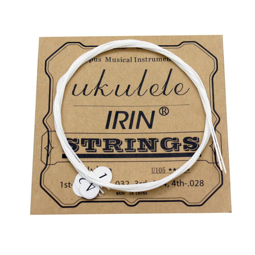 IRIN U105 Ukulele Strings Nylon Soprano Concert Tenor Ukelele Strings Musical Instrument Replacement Part Stringed Instrument