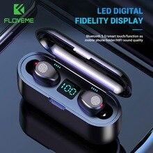 Bluetooth наушники FLOVEME TWS 5,0, беспроводные наушники со светодиодным дисплеем для Xiaomi, 2200 мАч, сенсорные наушники с отпечатком пальца, гарнитура