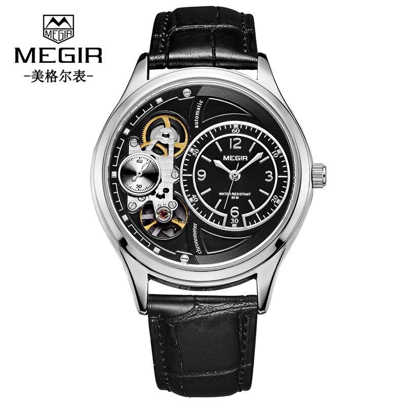 Unique marque de créateur hommes montres Quartz mode haute qualité luxe Megir homme montre évider Sport montre livraison directe