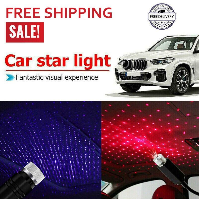 Galaxy Projector Star Lamp USB Auto Star Led Car Roof Milky Way Night Light Auto Star Led Light Projector Laser Galaxy Night