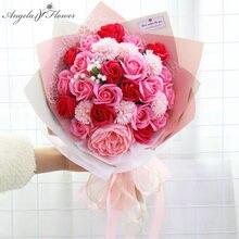 Bouquet de roses à savon créatives, fausses fleurs, pour la saint-valentin, pour un anniversaire, pour un mariage, pour décorer la maison