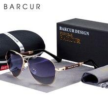 Barcur design liga de titânio óculos de sol polarizados óculos de sol feminino piloto gradiente óculos de sol