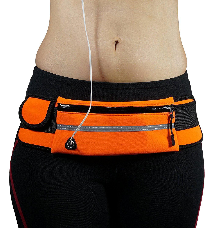Brivilas sports bag outdoor running waist bag multifunction sports waterproof anti-theft zip bags pack belt bags cycling bum bag