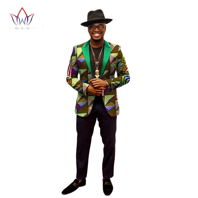 Fashion Brand Men Blazer Designs Coat For Dashiki Men Long Sleeve Single Button Print Mens Blazer Men Size 6XL Blazers WYN202