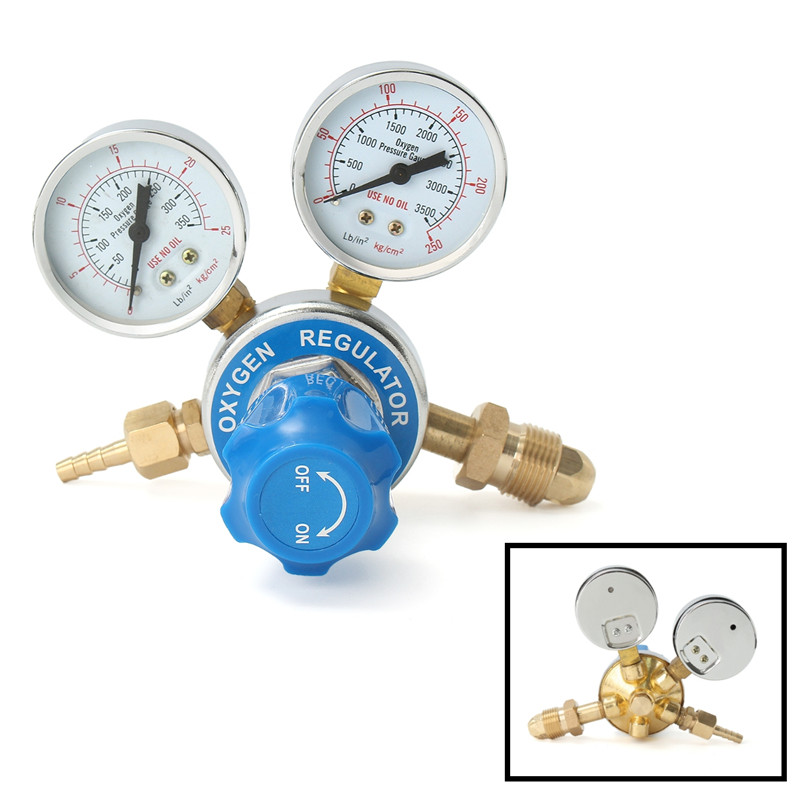 Tools : Argon Oxygen Acetylene Regulator Reducer Mig Flow Meter Pressure Gas Solid Brass Welding Fit Victor Gas Torch Cutting