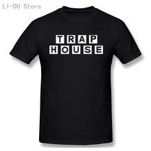 Мужские топы футболка ловушка house vogue белая хлопковая Мужская