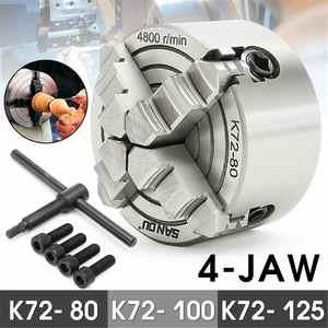 Independent Chuck-Key Self-Centering K72-100/k72-125 100mm/125mm 4-Jaw 3pcs-Mounting-Bolt